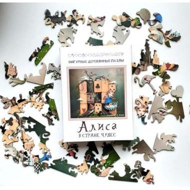 Пазл деревянный Алиса в стране чудес 48 эл.