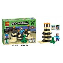 Конструктор  аналог LEGO Minecraft Стив против Крипера