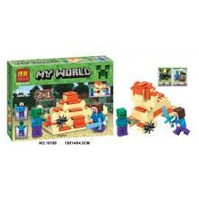 Конструктор  аналог LEGO Minecraft Стив против зомби