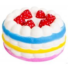 Игрушка-антистресс сквиши торт-радуга