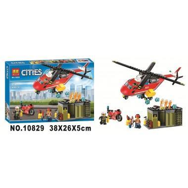 """Конструктор аналог LEGO City""""Пожарная команда быстрого реагирования"""""""