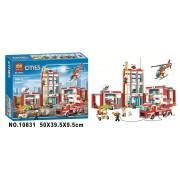 Конструктор аналог LEGO City Пожарная часть