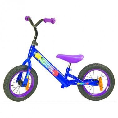 """Беговел детский Extreme Balance Bike 12"""" синий, надувные колеса"""