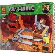Конструктор аналог LEGO Minecraft Лавовый куб