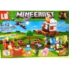 "Конструктор аналог LEGO Minecraft ""Нападение дракона"""