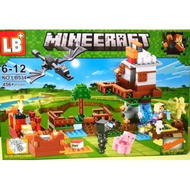 Конструктор аналог LEGO Minecraft Нападение дракона