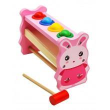 Деревянная игрушка стучалка Зайчик