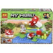 Конструктор аналог LEGO Minecraft Пастбище грибной коровы