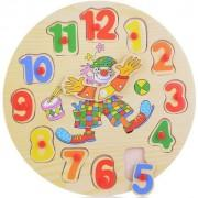 Пазл для малышей деревянная Часы