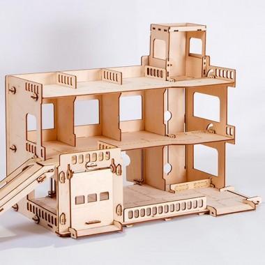 Конструктор деревянной Парковка СитиПарк 142 элемента