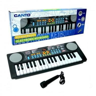 Синтезатор детский с микрофоном и радио Canto арт HL-3718FM
