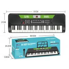 Детский синтезатор пианино с микрофоном 54 клавиши
