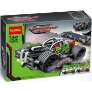 Конструктор аналог LEGO Technic Техник Зеленый гоночный автомобиль