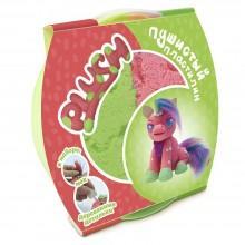 """Пушистый пластилин для детской лепки """"PLUSH"""" розово-зеленый"""