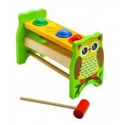 Деревянная игрушка стучалка Совушка