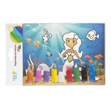 Набор для детского творчества Картина из песка Русалочка