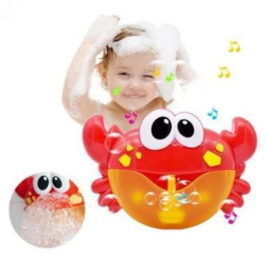 Игрушка для ванны Крабик-пеногенератор свет, музыка арт 85131