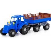 Трактор синий с прицепом Алтай Полесье арт 84767