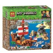 Конструктор аналог LEGO Minecraft Приключения на пиратском корабле