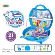 Игровой набор Доктор  в чемоданчике 21 предмет