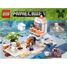 Конструктор аналог LEGO Minecraft Снежная крепость