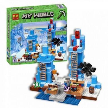 Конструктор аналог LEGO Minecraft Ледяные шипы