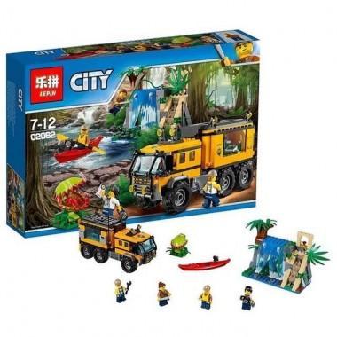 """Конструктор аналог LEGO City Джунгли """"Передвижная лаборатория в джунглях"""""""