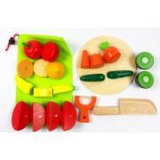 Игровой деревянный набор «Фрукты и овощи» разрезные на магнитах