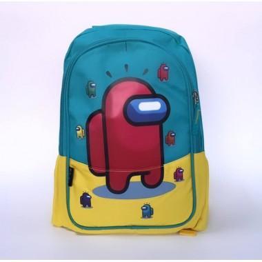 Детский рюкзак с принтом Амонг Ас Among Us арт. among бирюзовый