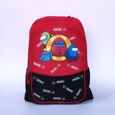 Детский рюкзак с принтом Амонг Ас Among Us арт. among красный
