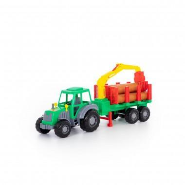 Трактор с полуприцепом лесовозом Алтай полесье
