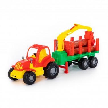 Трактор с полуприцепом-лесовозом Крепыш Полесье