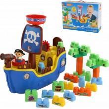 Набор игровой Полесье Пиратский корабль + конструктор (30 элементов) (в коробке) (62246)