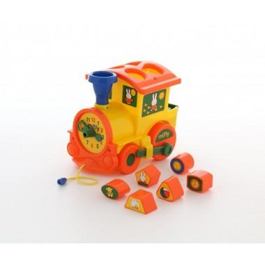 """Логический паровозик """"Миффи"""" с 6 кубиками №1"""