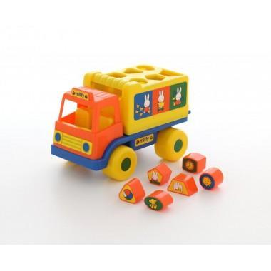 Логический грузовичок Миффи №1 с 6 кубиками