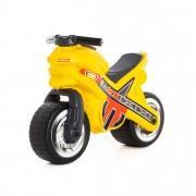 Каталка-беговел мотоцикл желтая Полесье