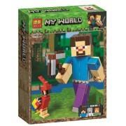 Конструктор аналог LEGO Minecraft Стив с попугаем
