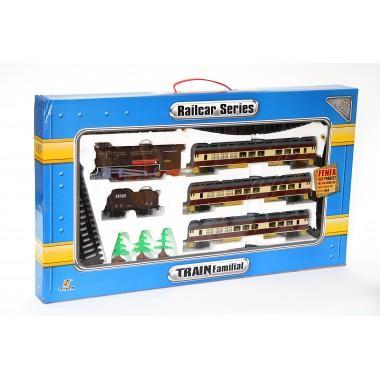 Игровой набор железная дорога 240 см с аксессуарами