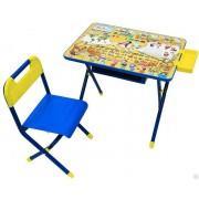 """Набор детской складной мебели № 3 (синий) - """"Весёлые гномы"""""""
