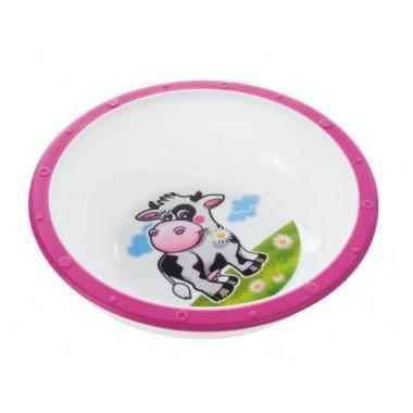 Тарелка пластиковая с нескользящим дном