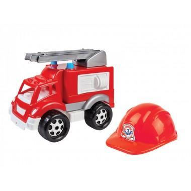 Пожарная машина с каской