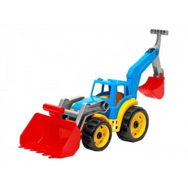 Игрушечный трактор с двумя ковшами