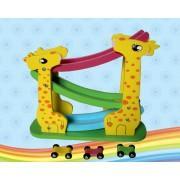 Деревянная развивающая игрушка серпантин Автомобили 3 уровня