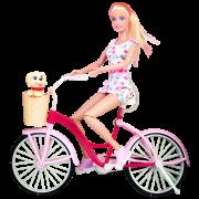 Кукла DEFA на велосипеде