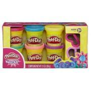 Игровой набор Hasbro Play-Doh 6 баночек Блестящая коллекция