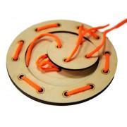 Деревянная игрушка шнуровка Пуговичка