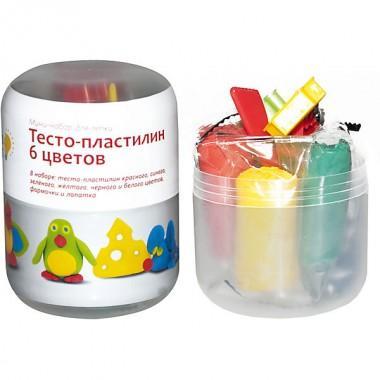 Набор для лепки тесто-пластилин 6 цветов, арт. TA1065V