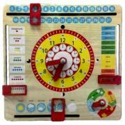 Детские деревянные часы календарь