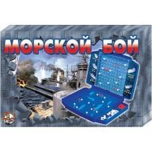 """Игра детская настольная """"Морской бой-2 (ретро)"""" жесткая коробка"""