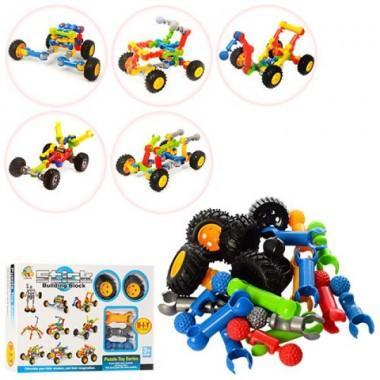 Конструктор Stick building block Транспорт 24 деталей и колеса.